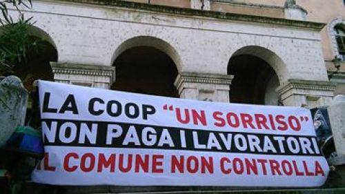 La protesta dei lavoratori e delle camere del lavoro autonomo e precario (Clap) a Roma
