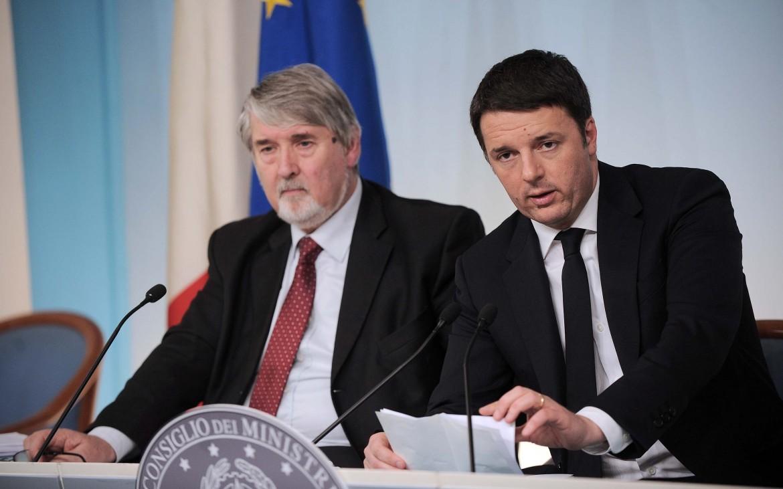 Giuliano Poletti e Matteo Renzi
