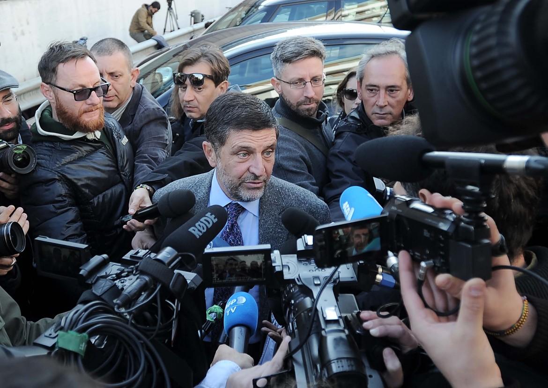 Giosuè Nardo, avvocato di Massimo Carminati, davanti al Tribunale di Roma