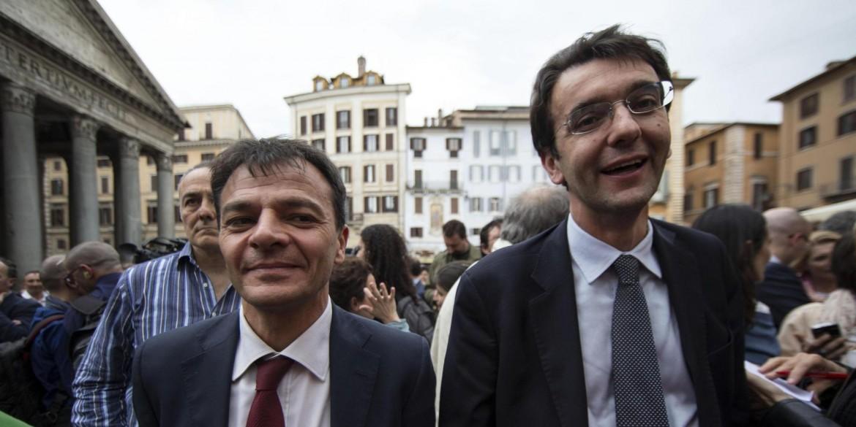Stefano Fassina e Alfredo D'Attorre, ex deputati pd