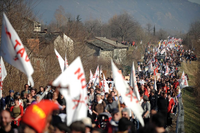 Manifestazione No Tav in Val di Susa