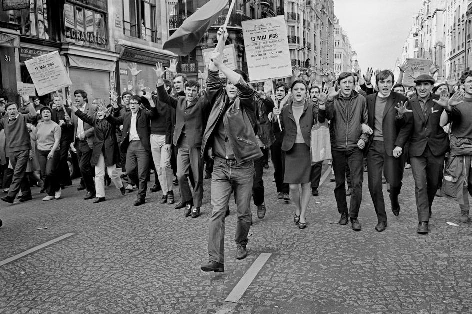 Manifestazione del Sessantotto francese