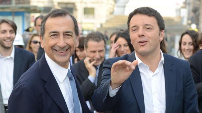 L'ex ad Expo Giuseppe Sala e Matteo Renzi