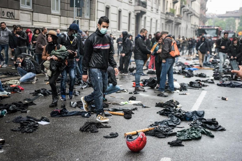 Manifestazione No Expo a Milano del Primo Maggio scorso