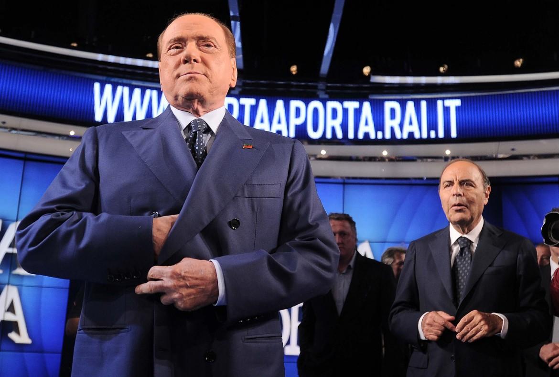 Silvio Berlusconi in tv con Bruno Vespa
