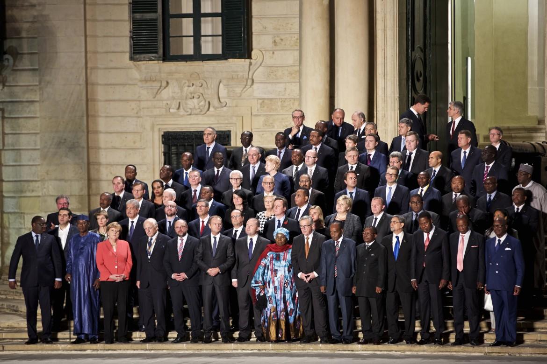 I leader europei e africani a La Valletta