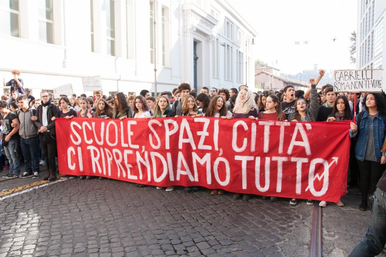 Roma, manifestazione contro la buona scuola