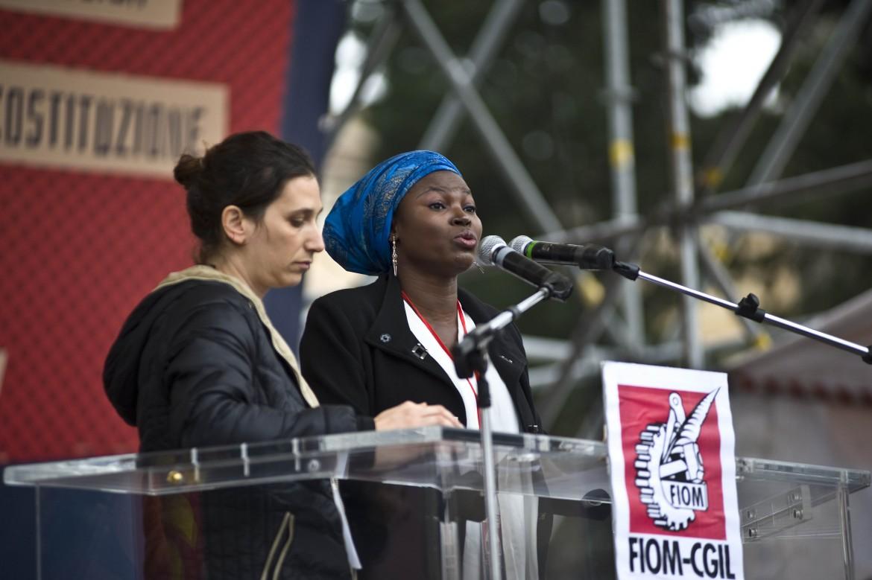 Dal palco di Unions!, la manifestazione Fiom di ieri a Roma