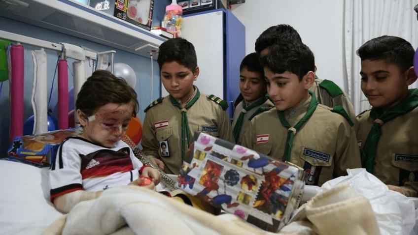 Haidar Mustafa in ospedale