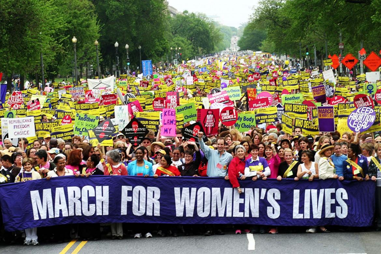 24 aprile 2004, un momento della manifestazione pro aborto a Washington