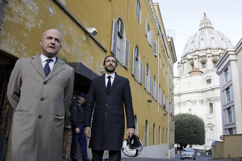 I giornalisti Gianluigi Nuzzi ed Emiliano Fittipaldi