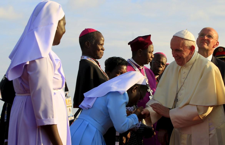 Bergoglio in Uganda