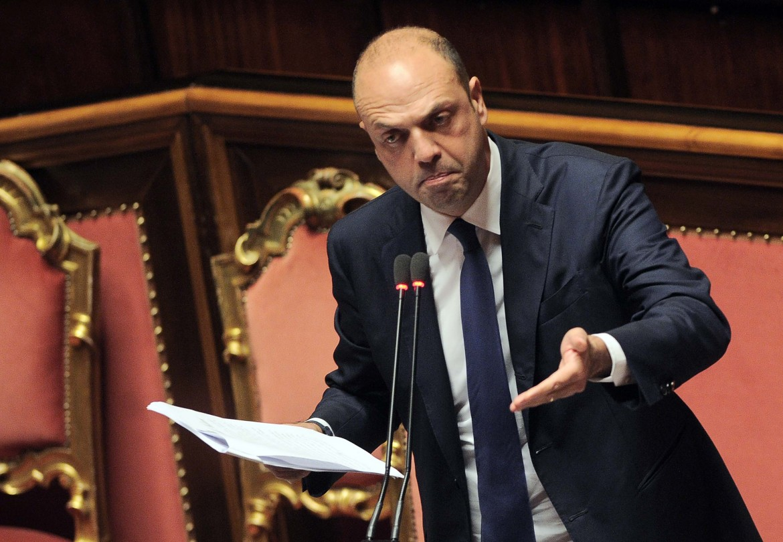 Il ministro dell'interno Angelino Alfano