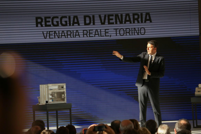 Matteo Renzi all'Italian Digital Day nella Reggia di Venaria