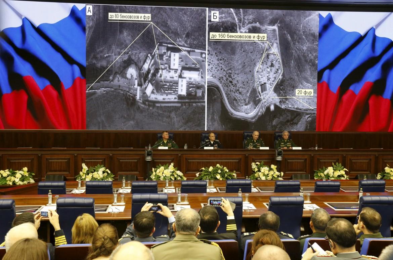 La conferenza stampa del ministero della Difesa russo
