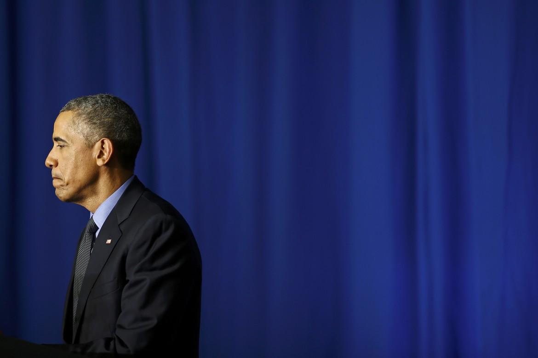 Barack Obama dopo il discorso tenuto alla conferenza sul clima di Parigi