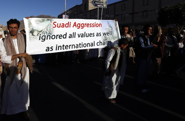 Manifestazioni contro l'aggressione militare saudita in Yemen