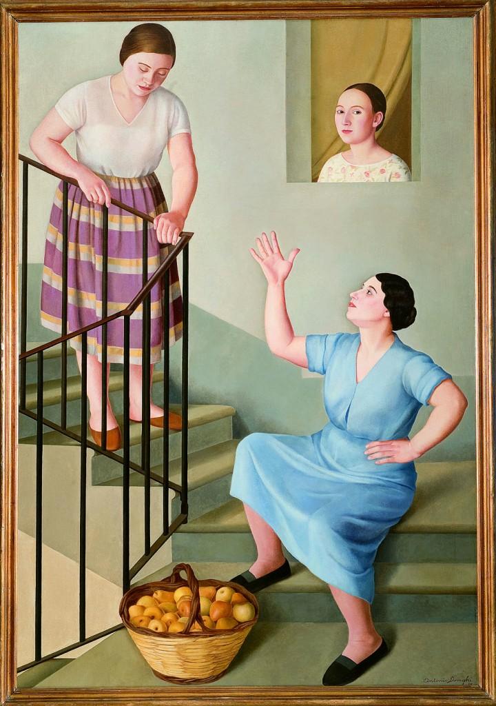 Antonio Donghi, «Donna per le scale», 1929, Firenze, collezione Banca Monte dei Paschi di Siena