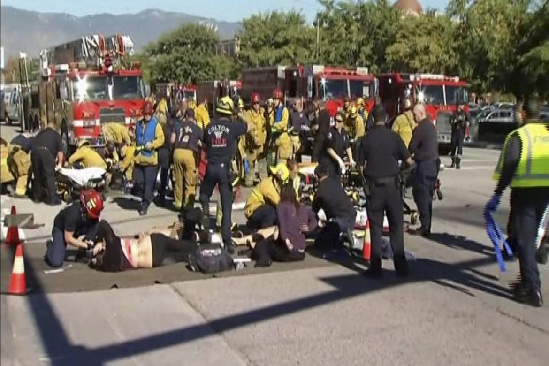 L'assistenza ai feriti a San Bernardino