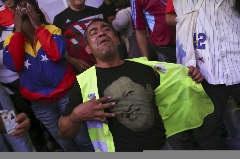 Chavisti dopo la sconfitta elettorale del 2015