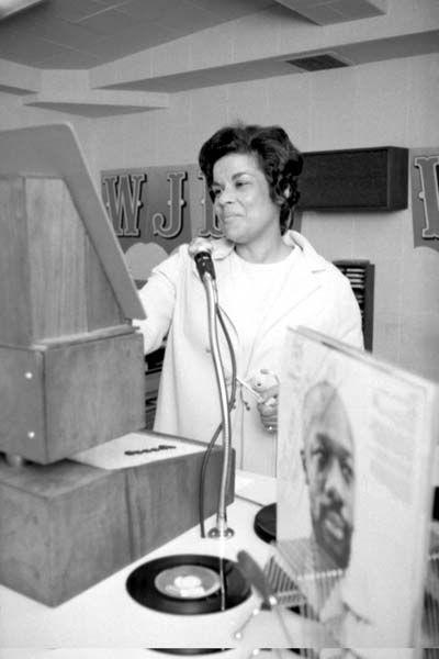 La dj radiofonica Martha Jean 'The Queen' Steinberg