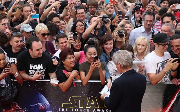 Harrison Ford alla premiere di The Force Awakens, Il risveglio della forza