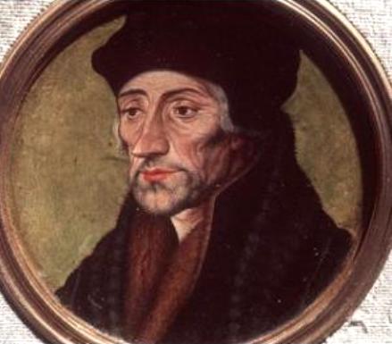 Erasmo da Rotterdam ritratto da Holbein il Giovane