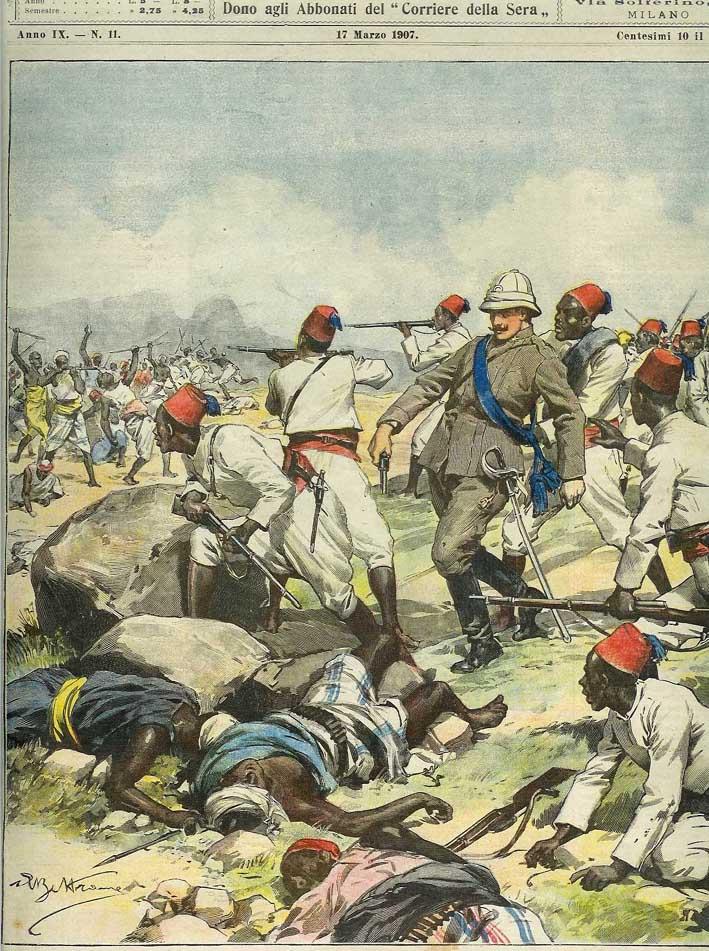 Pubblicazione del 1903 a ricordo dei caduti italiani nella battaglia di Adua