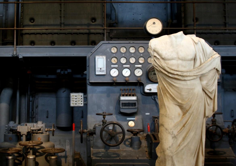 la Centrale Montemartini a Roma