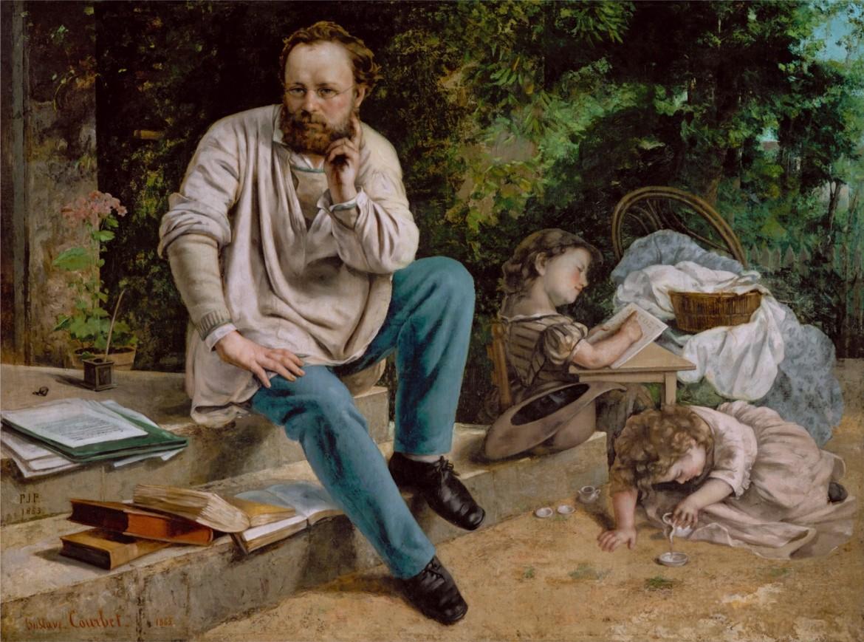 Pierre-Joseph Proudhon in un ritratto di Gustave Courbet