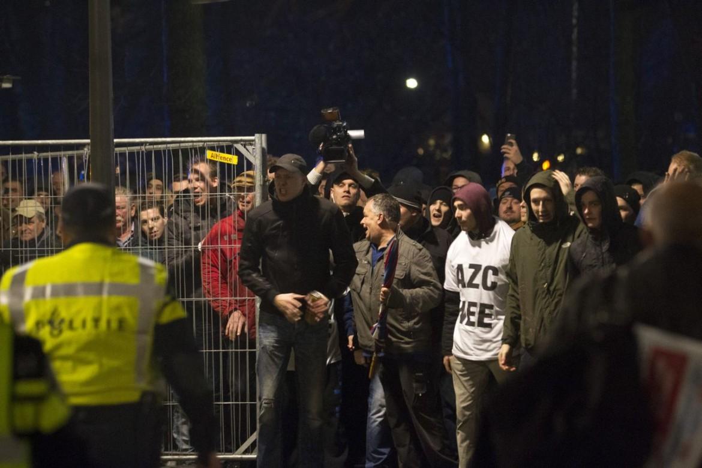 La protesta contro il centro per migranti di Geldermalsen