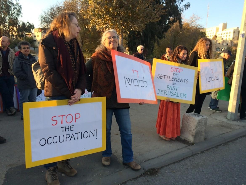 Manifestazione ieri a Gerusalemme di attivisti israeliani contro l'occupazione di case palestinesi