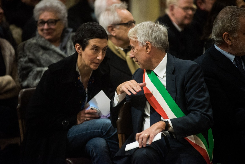 Giuliano Pisapia, sindaco di Milano, e Francesca Balzani, sua vice e candidata alle primarie