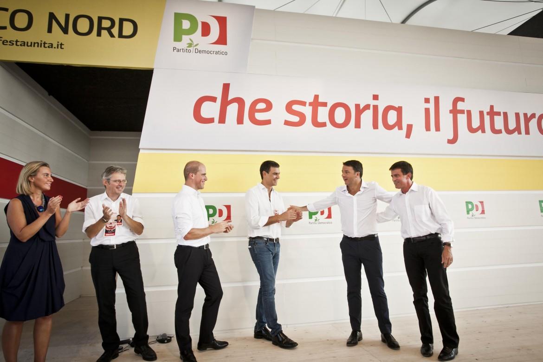 I leader socialisti (tra cui lo spagnolo Sanchez) convocati da Renzi alla festa dell'Unità di Bologna
