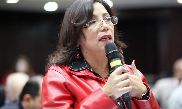 La deputata chavista Tania Diaz