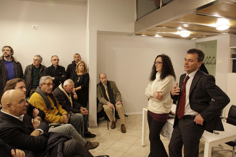 Inaugurazione della sede del comitato elettorale per Stefano Fassina sindaco di Roma a Torpignattara