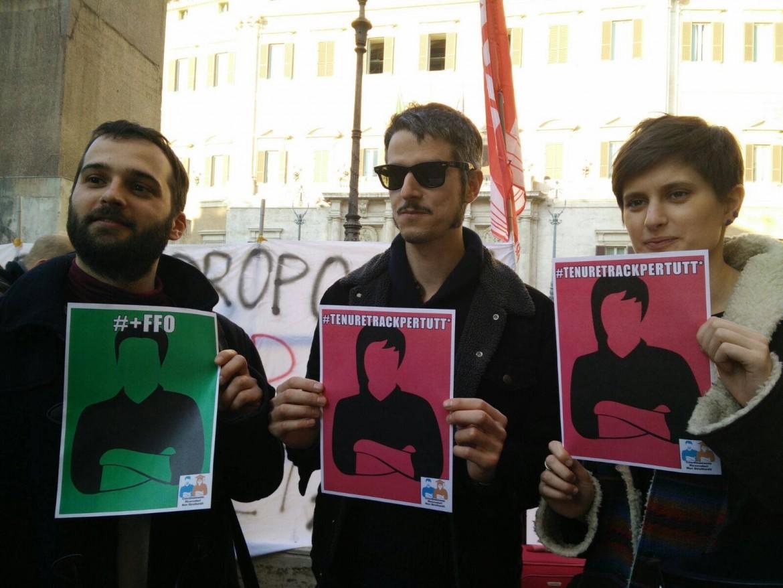 La protesta dei ricercatori precari-strikers