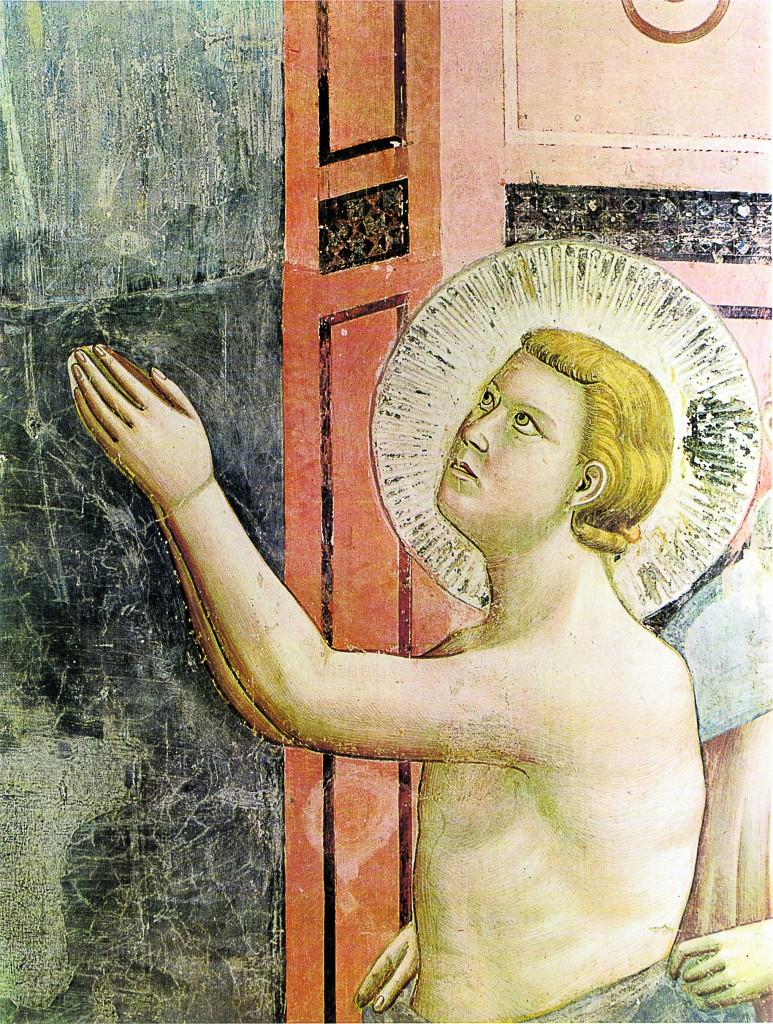 Giotto, «La rinuncia agli averi», part., Assisi, San Francesco, Basilica Superiore
