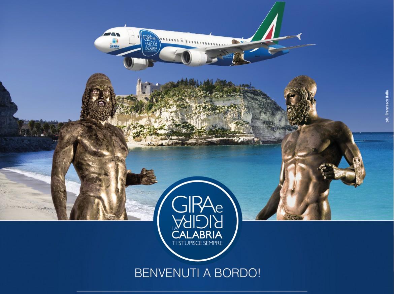 Campagna pubblicitaria promossa  dalla Regione Calabria  in collaborazione  con Alitalia, 2014