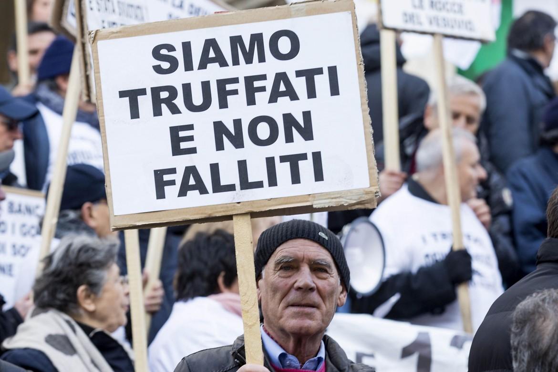 Manifestazione a Bankitalia