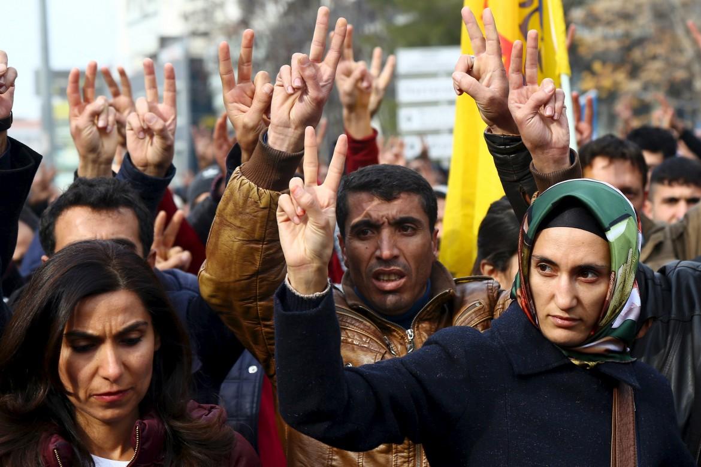 Manifestazione di kurdi in Turchia