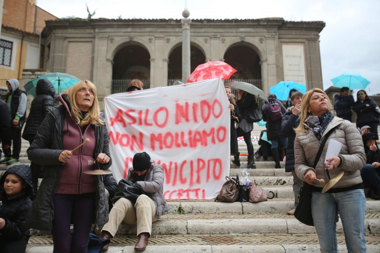 Proteste per gli asili nido a Roma