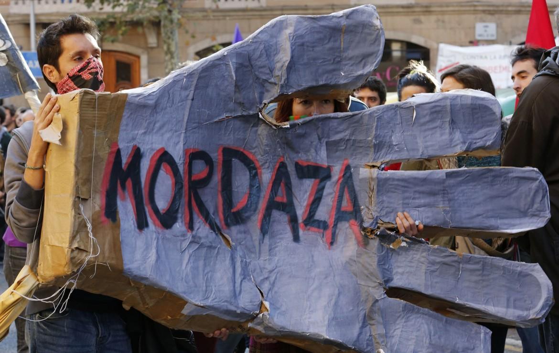 Protesta di piazza contro la «ley mordaza»