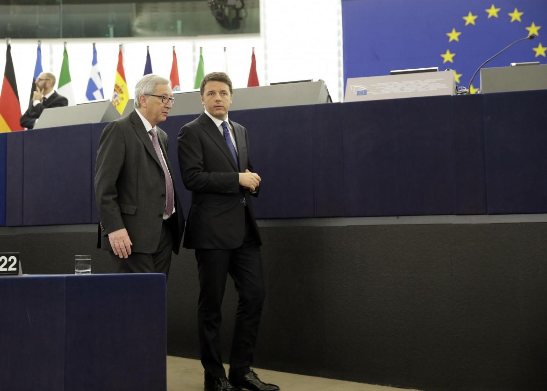Matteo Renzi e Jean-Claude Juncker