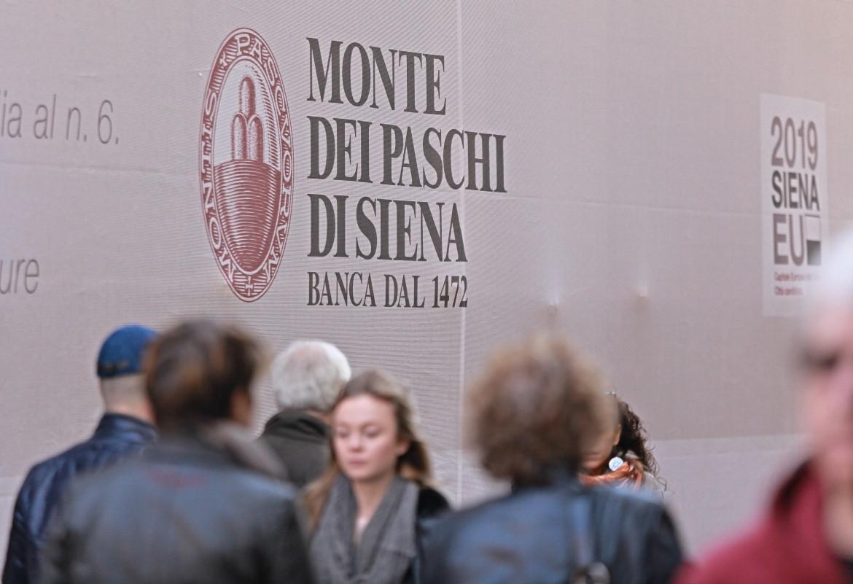 Un'immagine del logo del Monte dei Paschi