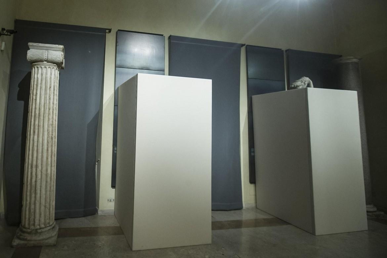 Le statue nascoste per la visita del presidente iraniano ai Musei capitolini