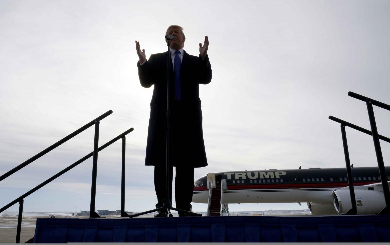 Donald Trump a un comizio in Iowa nel gennaio 2016