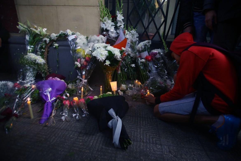 Sit-in per Giulio Regeni  di fronte all'ambasciata italiana del Cairo