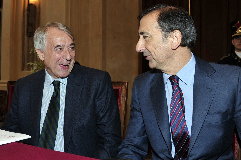 Il sindaco di Milano Giuliano Pisapia con Giuseppe Sala