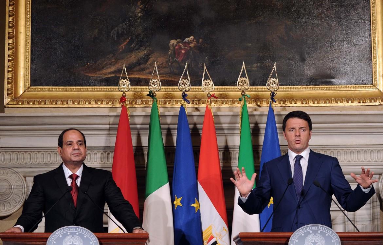 Il golpista Al Sisi e il premier italiano Matteo Renzi